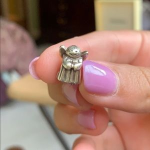Authentic and retired PANDORA angel charm